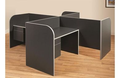 Picture of Laminate Cluster of 4 Person Cubicle Workstation