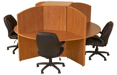 Picture of Laminate Cluster of 4 Person Circular Workstation