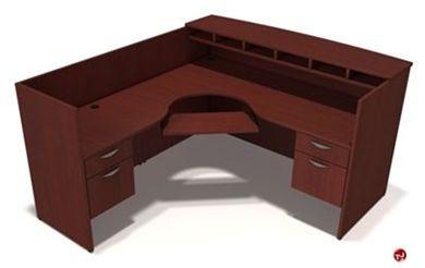 Picture of L Shape Reception Desk Workstation with Filing Pedestals