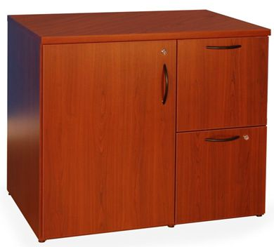 Picture of 2 Drawer and Door Storage File Center with Locks