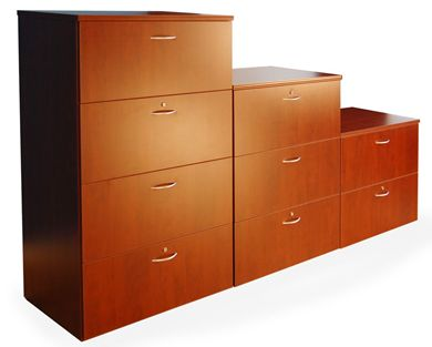 Picture of 2 Drawer, 3 Drawer and 4 Drawer Laminate Lateral Filing Cabinets
