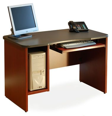 """Picture of 30"""" x 60"""" Computer Desk with CPU Holder"""
