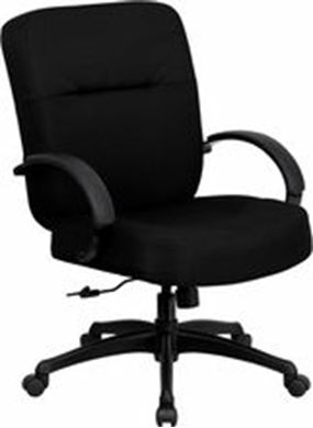 Picture of 400 LB. CAPACITY BIG & TALL BLACK FABRIC OFFICE CHAIR WITH ARMS AND EXTRA WIDE SEAT