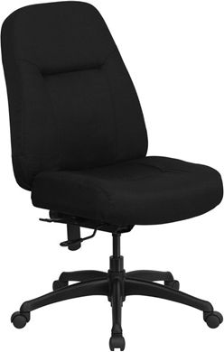 Picture of 400 LB. CAPACITY HIGH BACK BIG & TALL BLACK FABRIC OFFICE CHAIR WITH EXTRA WIDE SEAT