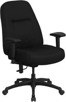 Picture of  400 LB. CAPACITY HIGH BACK BIG & TALL BLACK FABRIC OFFICE CHAIR WITH HEIGHT ADJUSTABLE ARMS AND EXTRA WIDE SEAT