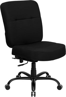 Picture of  400 LB. CAPACITY BIG & TALL BLACK FABRIC OFFICE CHAIR WITH EXTRA WIDE SEAT