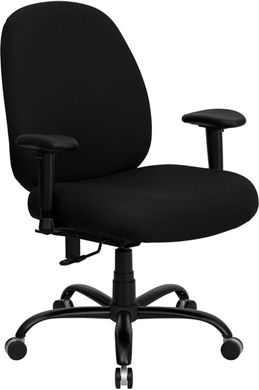 Picture of  400 LB. CAPACITY BIG AND TALL BLACK FABRIC OFFICE CHAIR WITH ARMS AND EXTRA WIDE SEAT