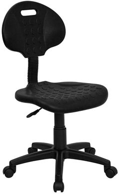 Picture of TUFF BUTT'' SOFT BLACK POLYPROPYLENE UTILITY TASK CHAIR