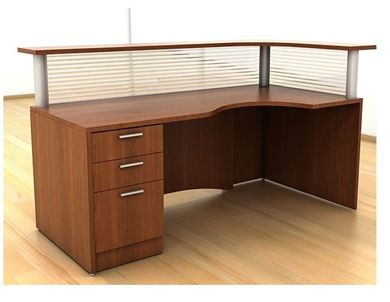 "Picture of 72"" Curve Reception Desk Station"