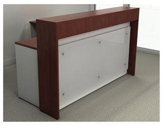 "Picture of 72"" Contemporary L Shape Reception Desk Workstation"