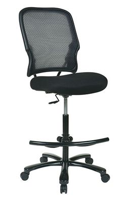 Picture of Big and Tall Double Dark AirGrid® Back Drafting Chair with Black Mesh Seat