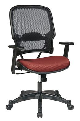 Picture of Professional Dark AirGrid® Back Managers Chair with Fabric Seat