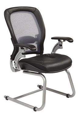 Picture of Light Air Grid® Back Visitors Chair with Leather Seat