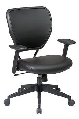 Picture of Black Vinyl Over Air Grid® Back Managers Chair with Black Vinyl Seat