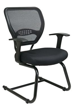 Picture of Professional Dark Air Grid® Back Visitors Chair with Mesh Seat