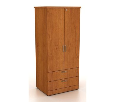 Picture of 100 + Series Healthcare 2 Door Wardrobe with Drawer Storage Cabinet
