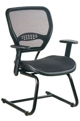 Picture of Professional Dark Air Grid® Seat and Back Visitors Chair