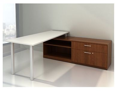 Picture of L Shape Office Desk Workstation with Lateral Storage