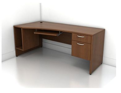 """Picture of 72"""" Computer Office Desk with Filing Cabinet and CPU Storage"""