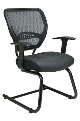 Picture of Professional Air Grid® Back Visitors Chair with Leather Seat