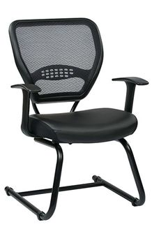 Picture of Professional Air Grid® Back Visitors Chair with Eco Leather Seat
