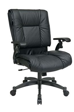 Picture of Deluxe Black Top Grain Leather Conference Chair