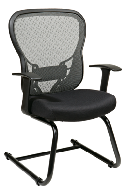 Picture of Deluxe R2 SpaceGrid® Back Visitors Chair with Fixed Arms and Mesh Seat