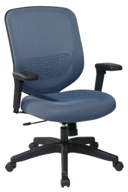 Picture of Blue Mesh Seat and Back Chair