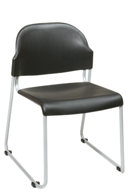 Picture of 2 Pack Stack Chair with Plastic Seat and Back