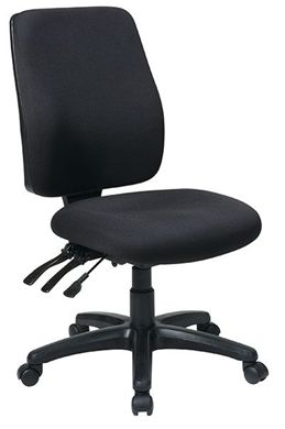 Picture of High Back Dual Function Ergonomic Chair with Ratchet Back Height Adjustment