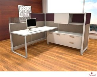 Picture of 6' x 6' L Shape Office Cubicle Desk Workstation