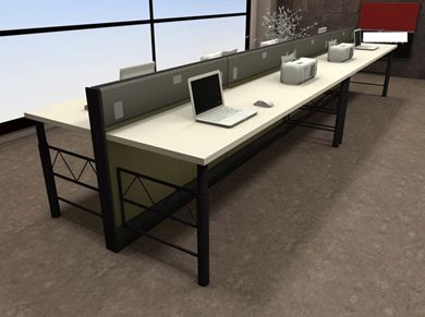 Picture of 8 Person Bench Teaming Office Desk Workstation