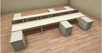Picture of 6 Person Bench Teaming Office Desk Workstation