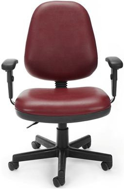 Picture of Straton Series Anti-Microbial/Anti-Bacterial Vinyl Task Chair with Arms