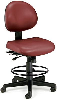 Picture of 24 Hour Anti-Microbial Vinyl Computer Task Chair with Drafting kit