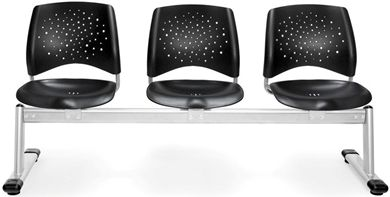 Picture of Stars 3-Unit Beam Seating with 3 Plastic Seats