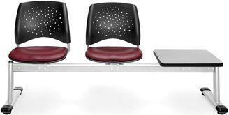 Picture of Stars 3-Unit Beam Seating with 2 Vinyl Seats & 1 Table