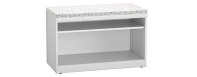 "Picture of Trace Metal 30"" 2 Shelf Open Lateral Storage Cabinet with Cushion Top"