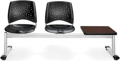 Picture of Stars 3-Unit Beam Seating with 2 Plastic Seats & 1 Table