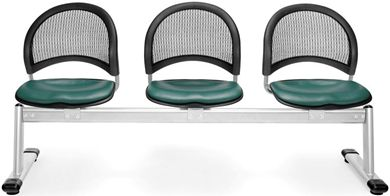 Picture of Moon 3-Unit Beam Seating with 3 Vinyl Seats