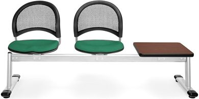 Picture of Moon 3-Unit Beam Seating with 2 Seats & 1 Table
