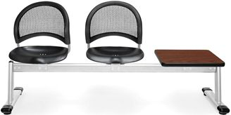 Picture of Moon 3-Unit Beam Seating with 2 Plastic Seats & 1 Table