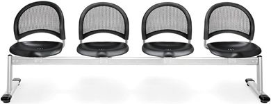 Picture of Moon 4-Unit Beam Seating with 4 Plastic Seat
