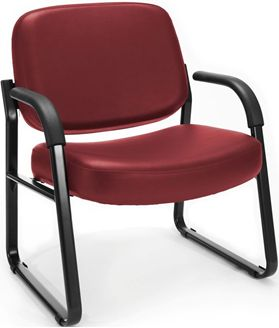 Picture of Big & Tall Anti-Microbial/Anti-Bacterial Vinyl Guest/Reception Chair with Arms