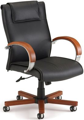 Picture of Apex Series Leather Executive Mid-Back Chair