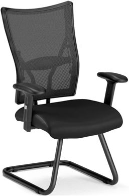 Picture of Talisto Series Executive Mid-Back Leather & Mesh Guest Chair