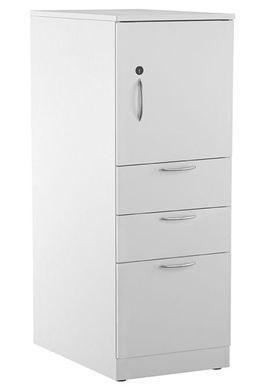 Picture of Trace Metal Single Door Cupboard Tower with Filing Drawers