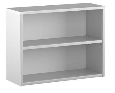 "Picture of Trace Metal 30""W 2 Shelf Open Bookcase"