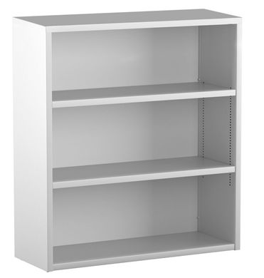 "Picture of Trace Metal 30""W 3 Shelf Open Bookcase"