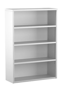 "Picture of Trace Metal 30""W 4 Shelf Open Bookcase"